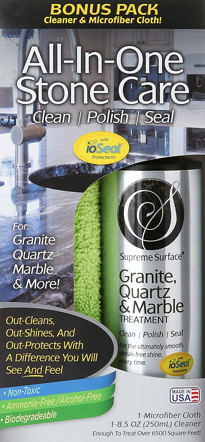 Supreme Surface Granite & Quartz, Cleaner, Polish and Sealer